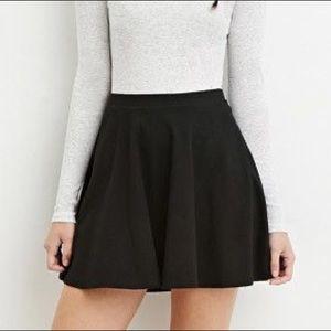 SPRING SALE 🌷 Black Knit Skater/Circle Skirt